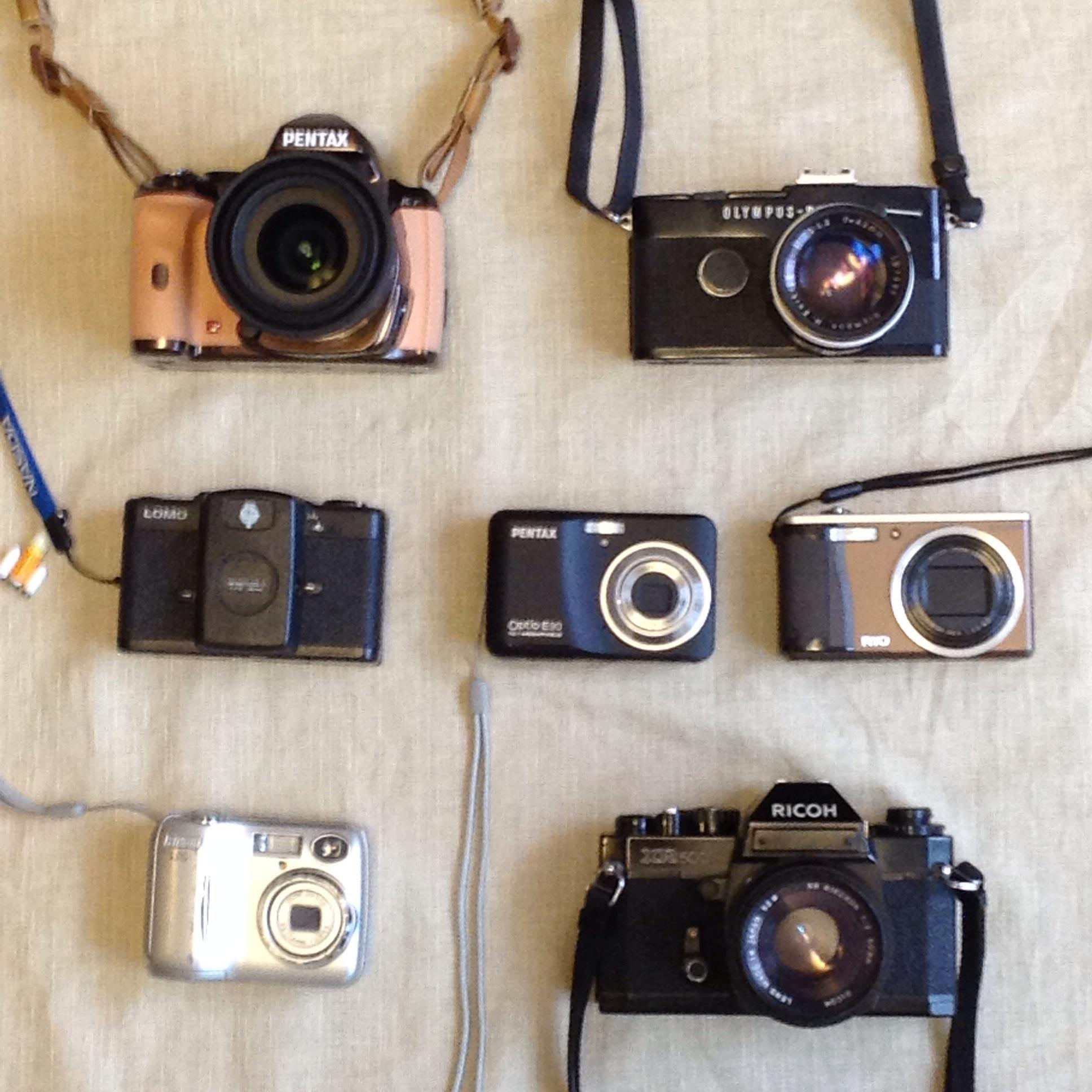 手持ちのカメラを集合させてみた。