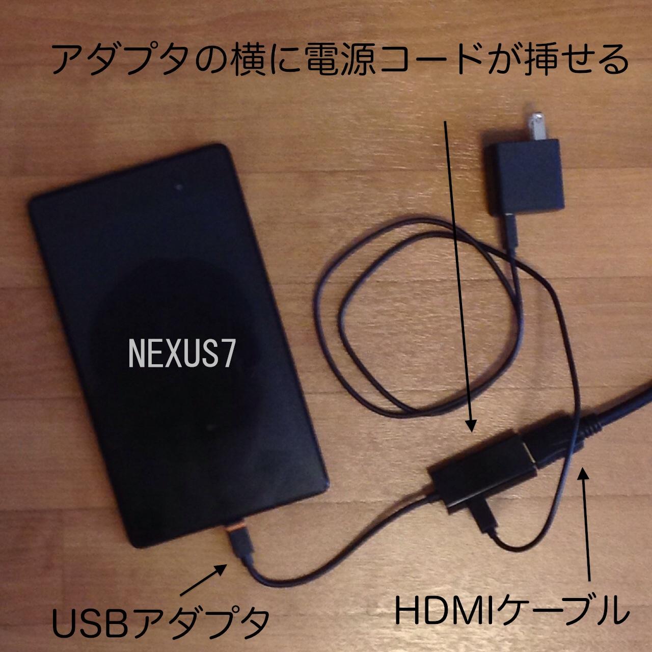[備忘録]HDMI端子利用で、NEXUS7をテレビに接続してみた