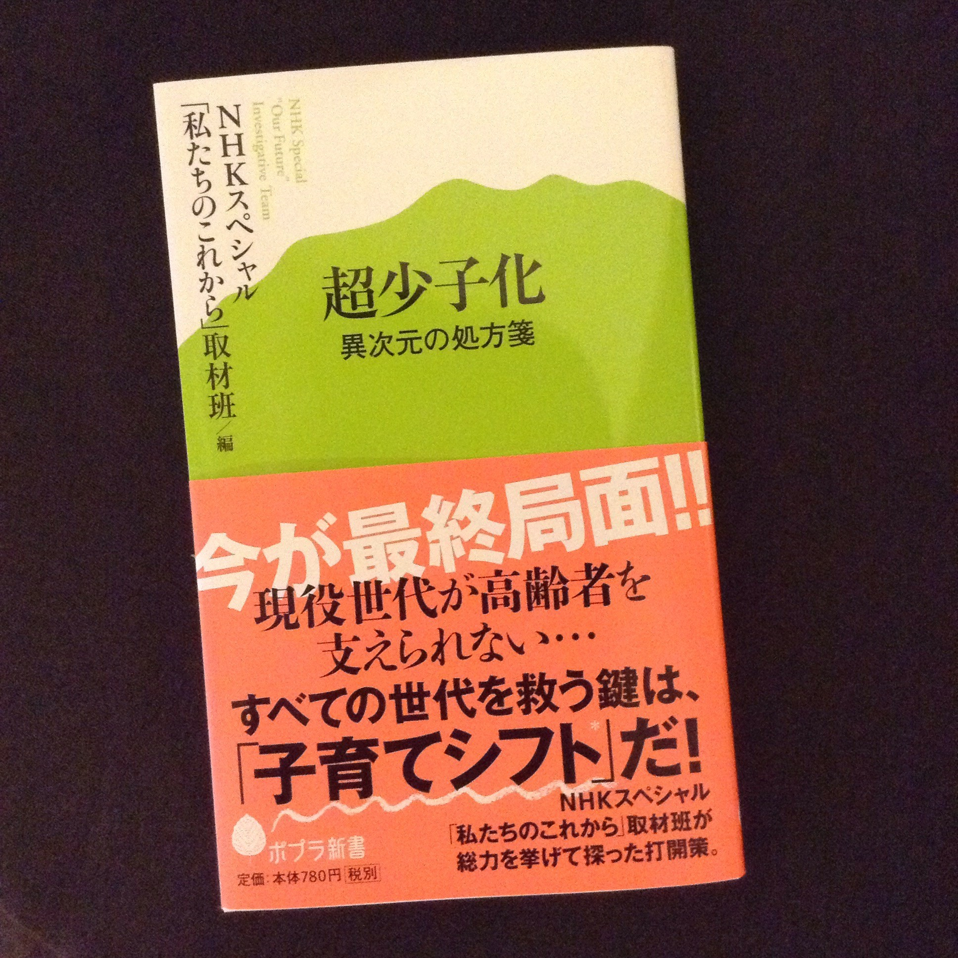 編集協力した新書が出ました『超少子化 異次元の処方箋』ポプラ新書